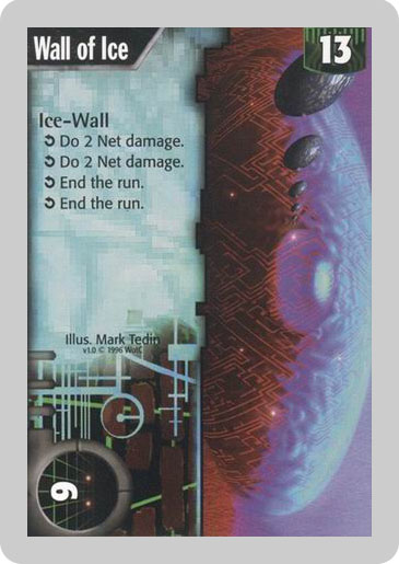Old Wall of Ice Card